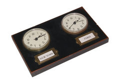 Double horloge Image stock