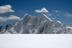 Double-humped peak. In Pamirs mountains, Tadjikistan Stock Images