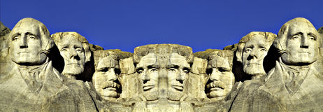 Double image of Mount Rushmore Royalty Free Stock Image