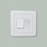 Double interrupteur de lampe 03 Photographie stock