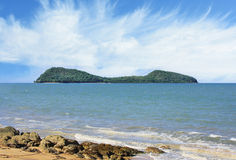 Double Island view from Clifton beach Stock Image