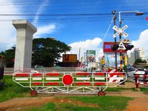 Double junction construction at Jira-Khon Kaen Stock Photos