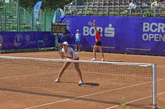 Double ladies tennis Royalty Free Stock Photos