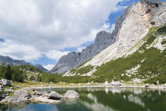 Double Lake at Triglav Lakes Valley Royalty Free Stock Image