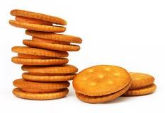 Double layer cream cookies Stock Image