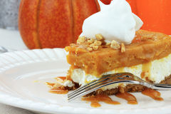 Double Layer No Bake Pumpkin Pie Stock Image