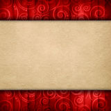 Double-layered background - blank paper sheet on retro pattern Royalty Free Stock Image