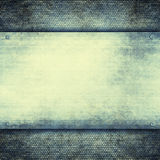 Double layered background - blank plate on grunge pattern Royalty Free Stock Photos