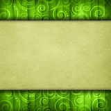 Double-layered background - paper sheet on retro pattern Stock Photo