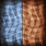 Double layered pattern background Stock Images