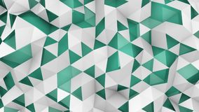 Double layered polygonal geometric surface 3D render vector illustration