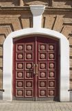 Massive wooden doors stock images