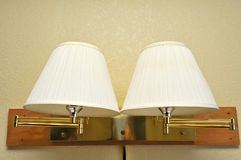 Double light lamps Royalty Free Stock Images