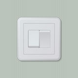 Double light switch 03 Stock Photography