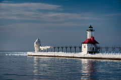 Double lighthouses Royalty Free Stock Image