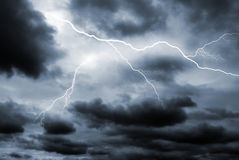Double lightning strike Royalty Free Stock Photo