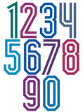 Double line geometric numbers. Stock Image