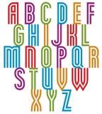 Double line retro style trendy font. Stock Photos