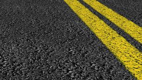 Double line street road drive Royalty Free Stock Image