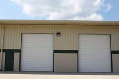 Double loading dock for trucks Stock Photos