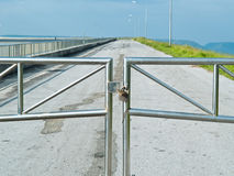 Double Lock for security of road Royalty Free Stock Images