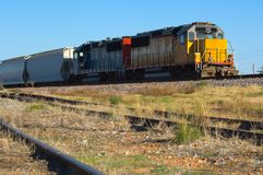 Double locomotive d'engine - train images libres de droits