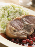 Double Loin Lamb Chops with Champ Stock Photography