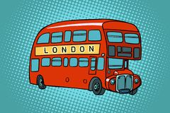 double Londres de pont de bus illustration stock