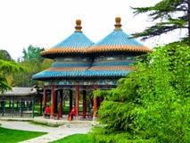 Double loop Wanshou Pavilion. An ancient pavilion that means longevity  inside Tiantan Park in Beijing China Stock Image