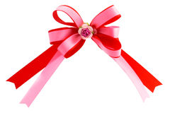 Double Loops Ribbon Bow Royalty Free Stock Images