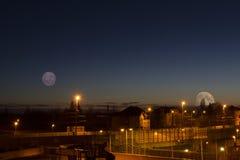 Double lune Image libre de droits