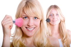 Double makeup Stock Image
