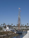 double masted schooner royaltyfria foton