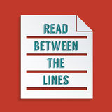 Double meaning. Concept for Reading between the lines. Abstract background design Stock Photo
