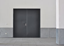 Double metal door Stock Photo