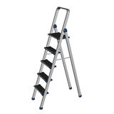 Double metal ladder isolated on white Stock Photos