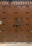 Double metallic door or gate. Royalty Free Stock Image