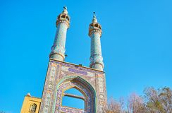Architectural feature of mosque of Yazd Royalty Free Stock Images