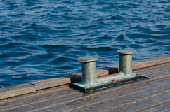 Double mooring bollard Royalty Free Stock Photos