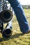 Double motor exhaust Royalty Free Stock Photography