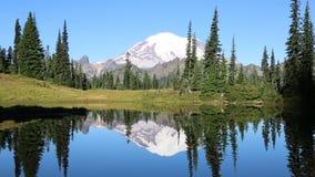 Double Mount Rainier stock video
