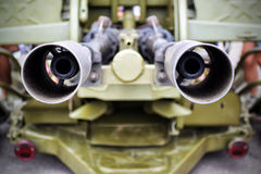 Double muzzles unit Royalty Free Stock Photo