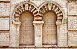 Double niche in old house in Cadiz Stock Image