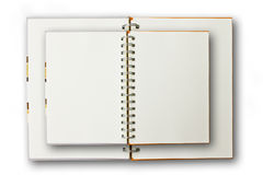 Double Notebook Isolated. Double Notebook on the White Background royalty free stock photography