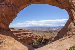 Double O Arch, Arches National Park. Utah, USA Stock Photos
