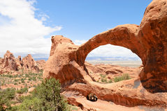 Double O Arch, Utah, USA Royalty Free Stock Image