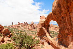 Double O Arch, Utah, USA Stock Images