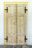 Double old wooden doors Royalty Free Stock Images