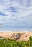 Double-outrigger Canoe, Maui, Hawaii Royalty Free Stock Photos