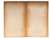 Double page spread of old paperback book. Stock Photo